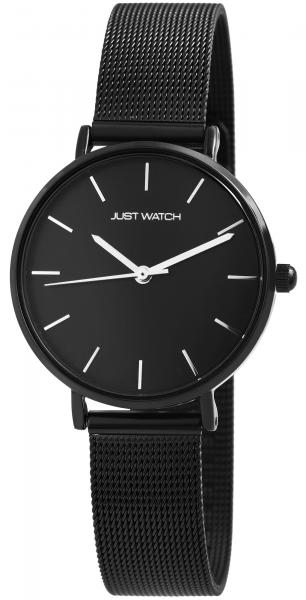 Just Watch Damen-Uhr Meshband Edelstahl Hakenverschluss Analog Quarz JW10116