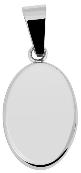 Akzent Gravur-Anhänger Edelstahl oval 5020203
