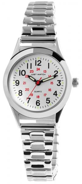 Just Watch Damen-Uhr Zugband Edelstahl Leuchtzeiger Analog Quarz JW10171