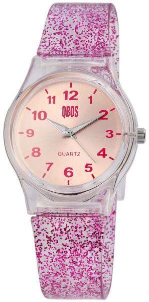 QBOS Damenuhr mit Silikonarmband - 1500003