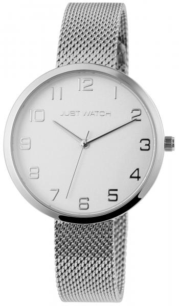 Just Watch Damen-Uhr Meshband Edelstahl Hakenverschluss Analog Quarz JW10243