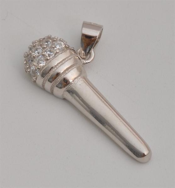 Giulia Luna Damen-Halskette Anhänger 925er Silber Mikrofon Musik GL5210033