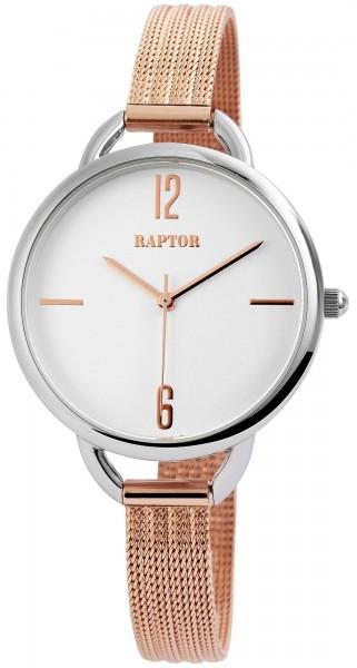 Raptor Damen-Uhr schmales Edelstahl Milanaiseband analog Quarz RA10030