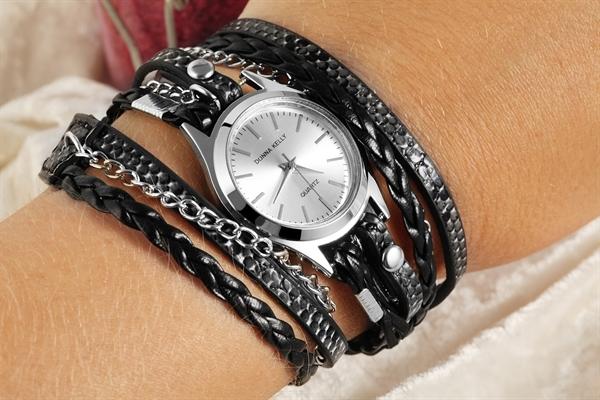 Donna Kelly Damen – Uhr Wickelarmband Lederimitation Analog Quarz 1900044