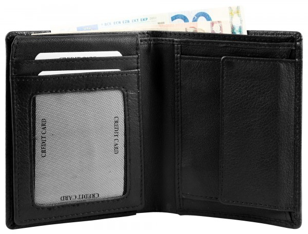 Excellanc Herren-Geldbörse Echt Leder 9,5 x 12 cm Hochformat RFID 3000374