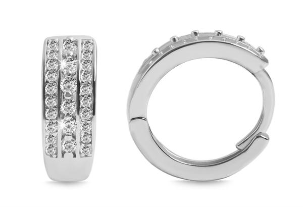 Giulia Luna Damen - Creolen edel 925er Sterling Silber Strass GL5200090