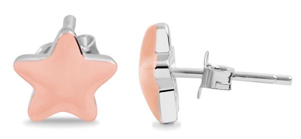 Giulia Luna–Ohrstecker 925er Silber Stern Mädchen rhodiniert Ohrringe GL5200126