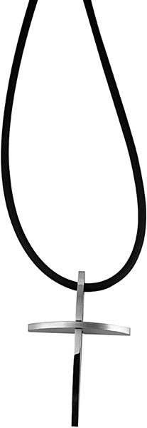 Akzent KautschukAkzent Kautschuk-Halskette aus Kautschuk, Schwarz, Länge 50 cm / Stärke 2 mm inkl. A