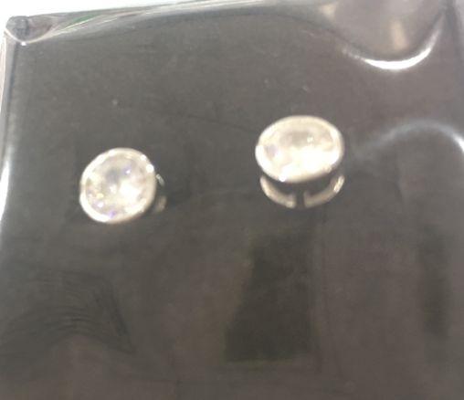 Echt Silber Ohrring, 925/rhodiniert, 1,4g