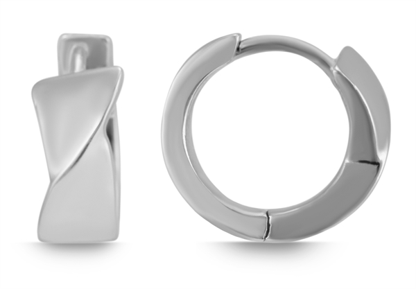 Giulia Luna Damen – Creolen 925er Silber Elegant rhodiniert Ohrringe GL5200077