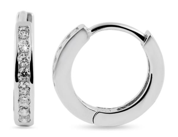 Giulia Luna Damen – Creole 925er Silber rhodiniert Ohrringe Strass GL5200118
