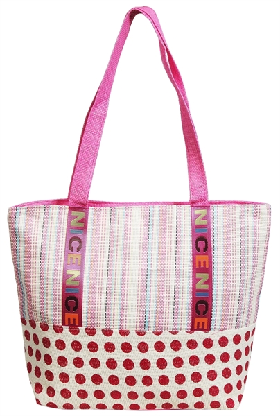 Gemusterte Strandtasche