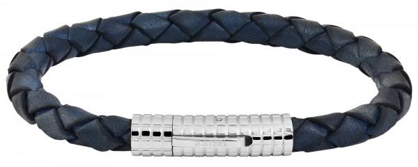 Akzent Unisex - Armband aus Echtleder mit Edelstahl Länge 21,5 cm 5040245