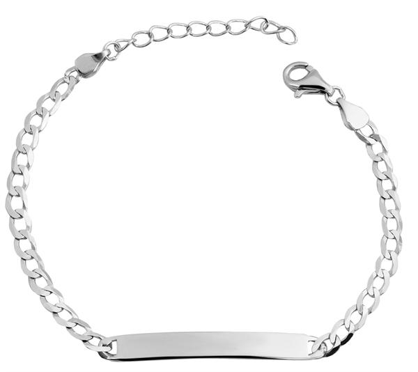 Echt Silber Armband, 14+3cm, 925/ rhodiniert, 2,4g