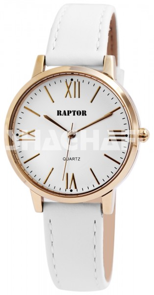 Raptor Damen-Uhr Armband Oberseite Echtleder Analog Quarzwerk RA10115