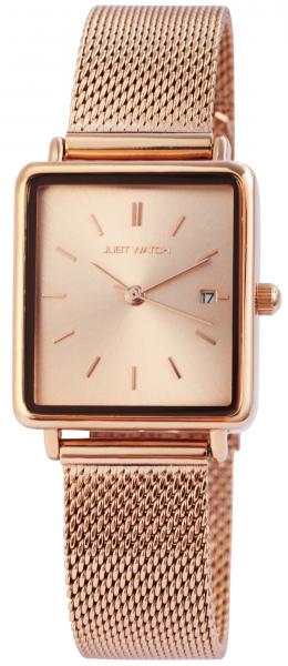 Just Watch Damen-Uhr Meshband Edelstahl Hakenverschluss Datum Analog Quarz JW20109