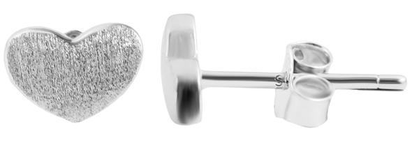 Giulia Luna-Ohrstecker 925er Sterling Silber Herz Liebe matt Ohrringe GL5200102