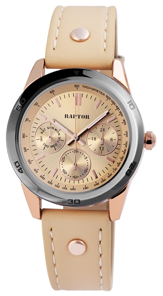 Raptor Damen-Uhr Armbandoberseite Echtleder Analog Quarz RA10154-003