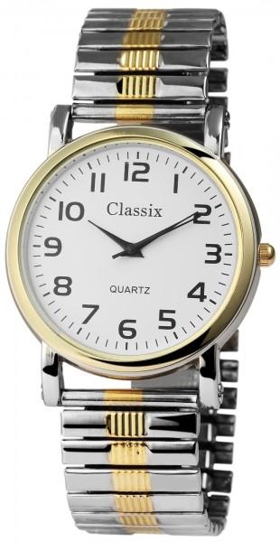 Classix Herren – Uhr Zugarmband Metall Armbanduhr Analog Quarz 2700005-002