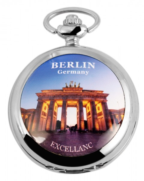 Excellanc Herren-Taschenuhr Metall Motivzifferblatt 4000025
