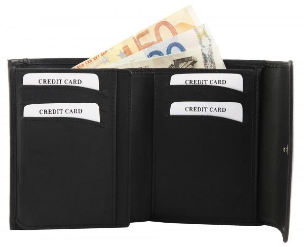 Leonardo Verrelli Echtleder Geldbörse für Männer