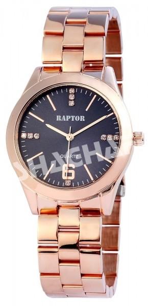 Raptor Damen-Uhr Metall Armband Strass-Steine Analog Quarz RA10066
