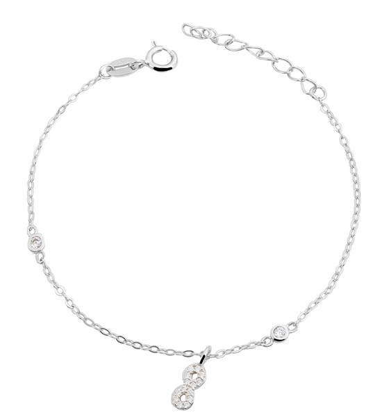 Giulia Luna - Armband 925er Silber Unendlichkeit Infinity 17+3 cm GL5240019