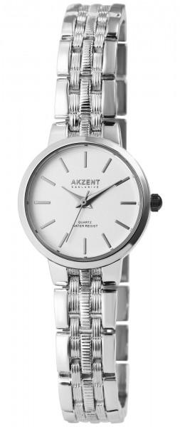 Akzent Damen - Uhr Metallglieder Armbanduhr Analog Quarz 1800195