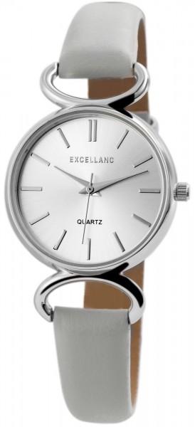 Excellanc Damen-Uhr Lederimitat Dornschließe Rund Analog Quarz 1900160