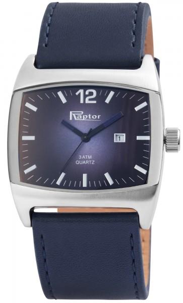 Raptor Herren-Uhr Echt Leder Dornschließe Datum Analog Quarz RA20258
