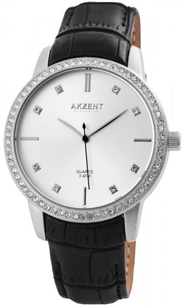 Akzent Exclusive Damen - Uhr Lederimitations Armbanduhr Analog Quarz 1900184