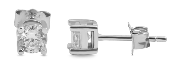 Giulia Luna-Ohrstecker Strass-Stein Elegant 925er Sterling Silber GL5200089