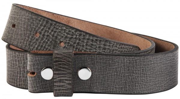 Leonardo Verrelli Echt Leder Gürtel, schwarz