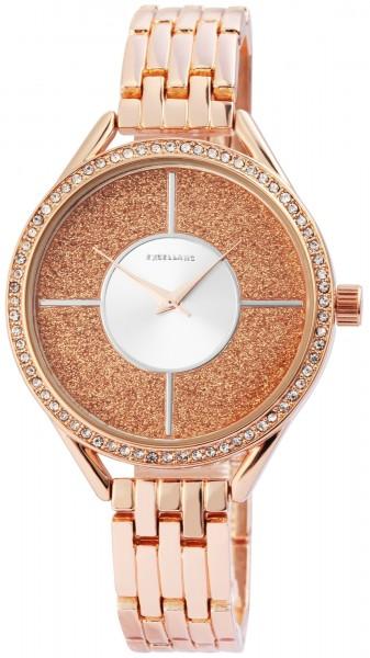 Excellanc Damen-Uhr Metallarmband Clipverschluss Strass Analog Quarz 1800135