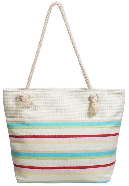 Gestreifte Strandtasche