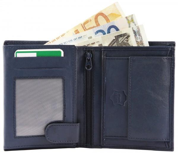 Excellanc Herren-Geldbörse Echt Leder Portemonnaie Brieftasche Format 12 x 10 cm 3000123
