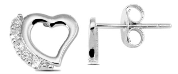 Giulia Luna Damen – Ohrstecker 925er Silber rhodiniert Ohrringe Strass GL5200036