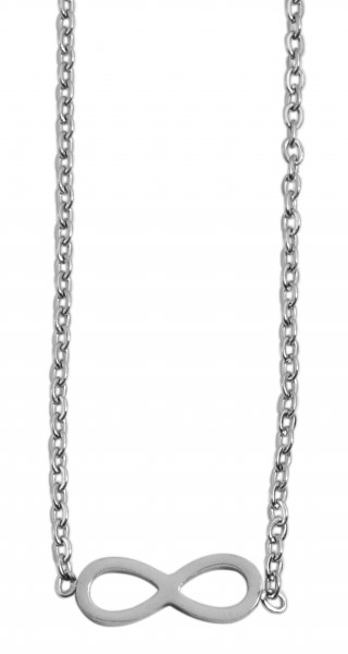 Akzent Damen - Halskette infinity Anhänger Edelstahl Ankerkette 43+5cm 5010260