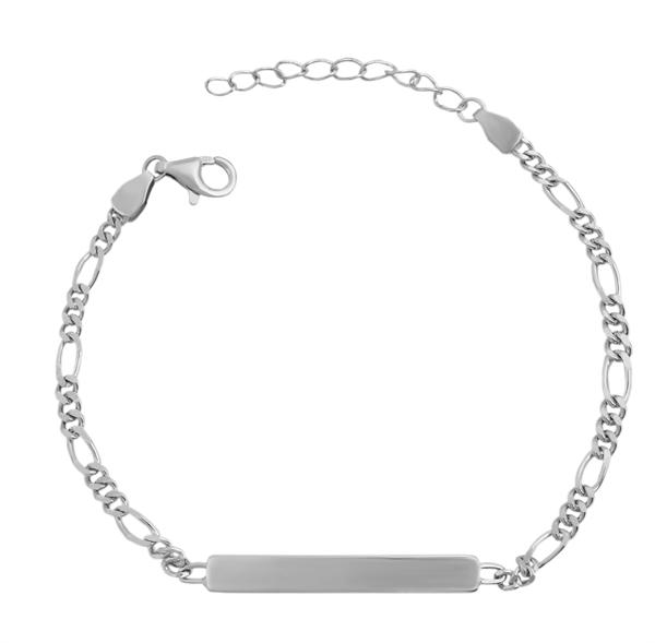 Echt Silber Armband , 17+3cm, 925/ rhodiniert, 2,5g