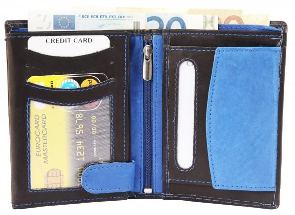 Excellanc Herren-Geldbörse Echt leder 12,5 x 9,5 cm Querformat 3000202