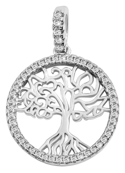 Giulia Luna-Halskette Anhänger Lebensbaum Schöpfung 925er Silber Strass GL5210060