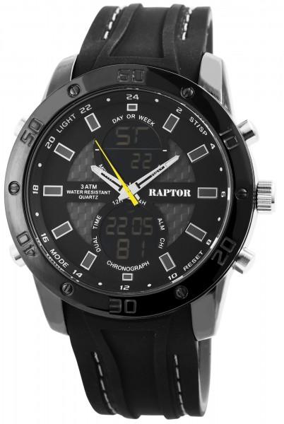 Raptor Herren Uhr Analog-Digital Silikon Armband RA20034-003
