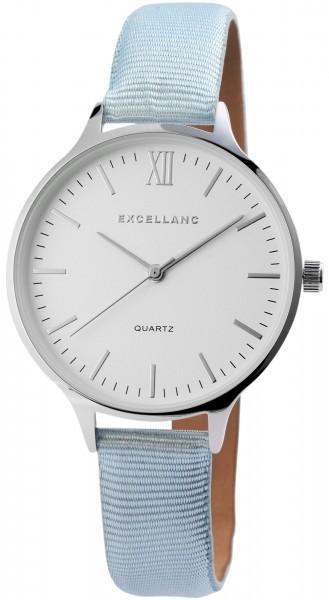 Excellanc Damen-Uhr Textilarmband Dornschließe Analog Quarz 1900117