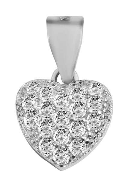 Giulia Luna-Halskette Anhänger Herz Liebe Love 925er Silber Strass GL5210094