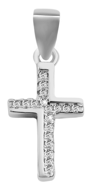 Giulia Luna-Halskette Anhänger Kreuz Glaube Schutz 925er Silber Strass GL5210057