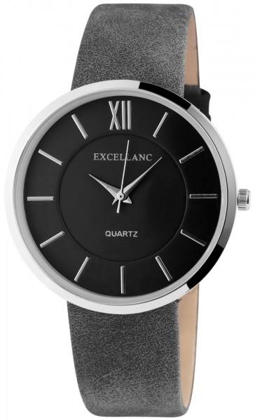 Excellanc Damen – Uhr Lederimitations Armbanduhr Analog Quarz 1900037