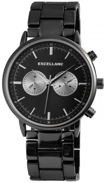Excellanc Herren-Uhr Gliederarmband Metall Faltschließe Analog Quarz 2800032