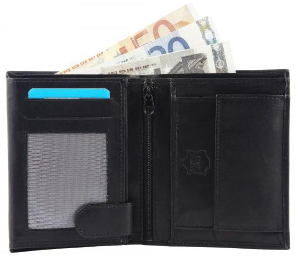 Excellanc Herren - Geldbörse Echt Leder Portemonnaie Brieftasche Format 12 x 10 cm 3000123