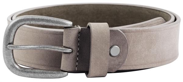 Leonardo Verrelli Damen - Gürtel aus Leder Grau 85 cm Vintage Dornschließe 3100062