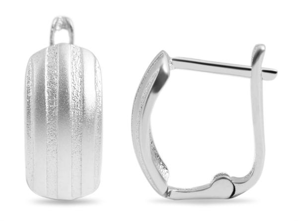 Giulia Luna Damen–Creolen 925er Silber matt glänzend Ohrringe GL5200108